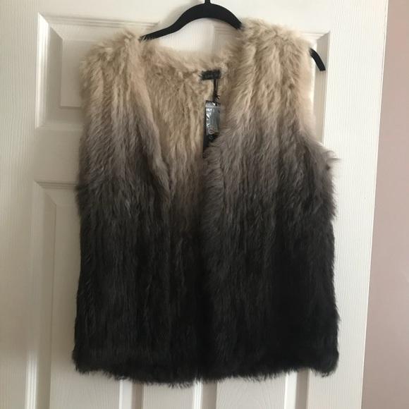 da07ac4fa Love Token Jackets & Coats | Real Rabbit Fur Ombr Vest Size Medium ...